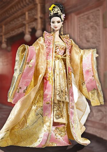 Barbie Empress of the Golden Blossom (2008).