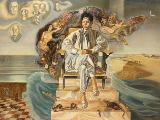El sueño del artista, retrato del escritor Nguyen Huy Thiep (The dream of artist, portrait of writer Nguyen Huy Thiep, 1990).