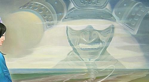 Detalle de El kimono azul (The blue kimono, 2008).