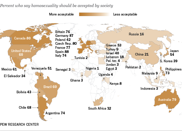 Mapa del Pew Research Center