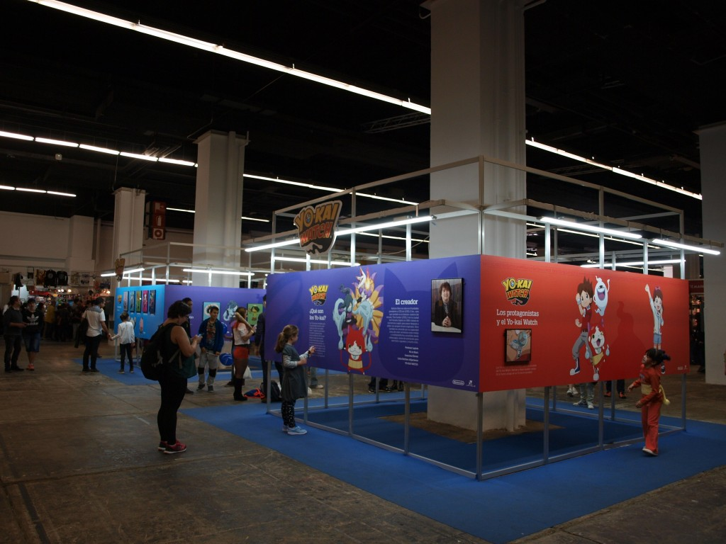 Vista general de la exposición de Yo-kai watch.