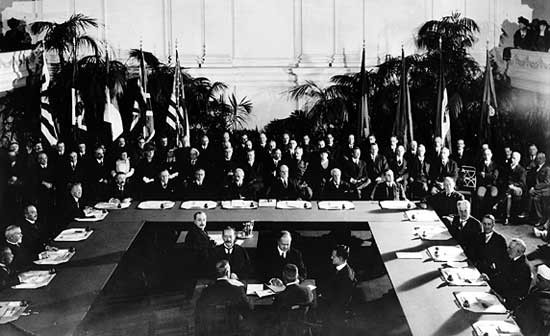 Fotografía de la Conferencia naval de Washington, 1921.