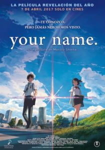 Cartel del estreno en cines de Your name.
